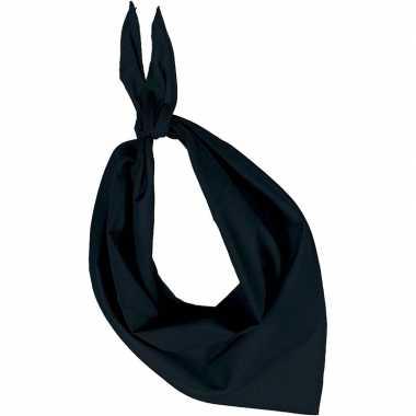 Team kleur zwart zakdoeken/bandanas voor volwassenen
