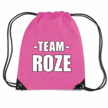 Team roze rugtas voor training fuchsia