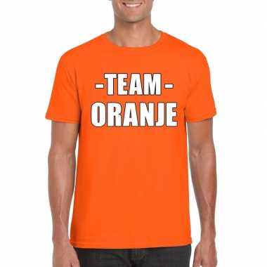 Team shirt oranje heren voor training