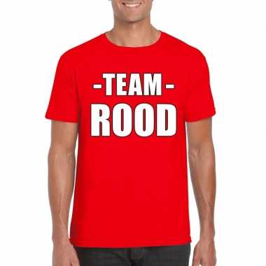Team shirt rood heren voor training