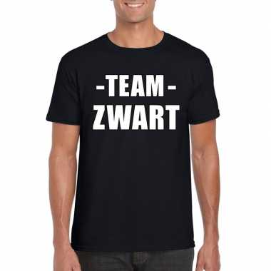 Team shirt zwart heren voor training