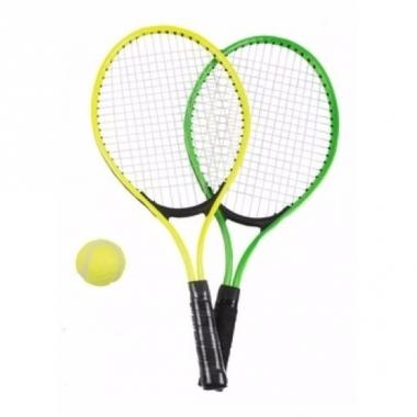 Tennis set groen/geel voor kinderen