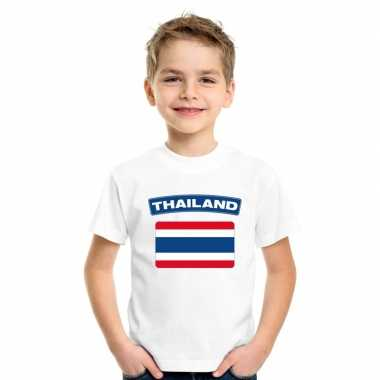 Thaise vlag kinder shirt wit