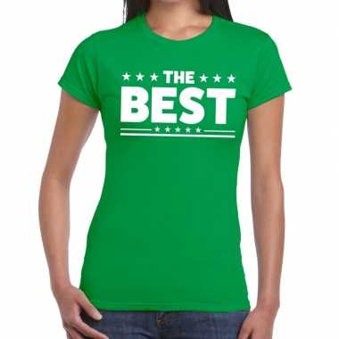 The best tekst t-shirt groen dames