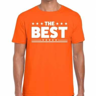 The best tekst t-shirt oranje heren