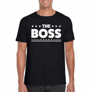The boss heren t-shirt zwart