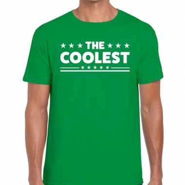 The coolest tekst t-shirt groen heren