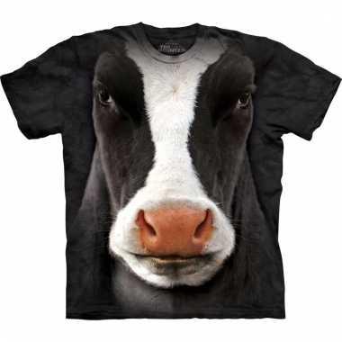 The mountain koeien t-shirt zwart/wit