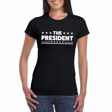 The president dames t-shirt zwart