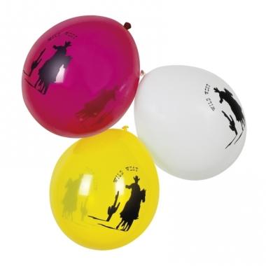 Thema ballonnen western 6 stuks