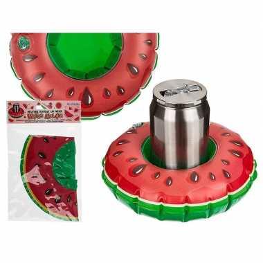 Thema hawaii blikjes houder watermeloen 18 cm