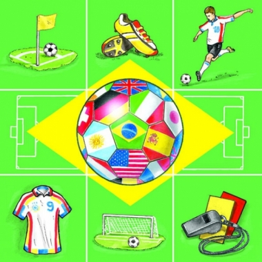 Thema servetten voetbal 20 stuks