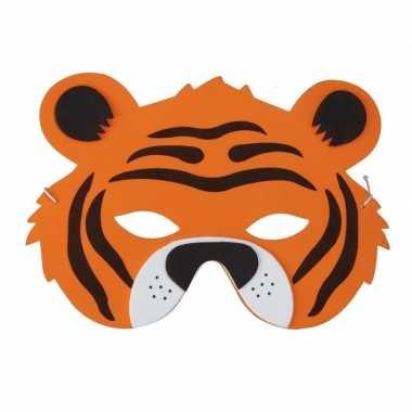 Tijger foam masker voor kinderen