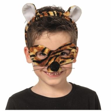 Tijger masker en diadeem voor kids