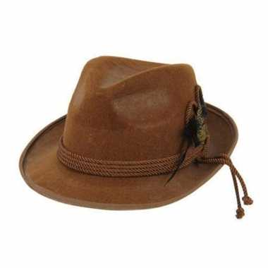 Tiroler hoedjes in bruine kleur