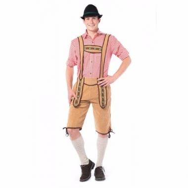 Tiroler lederhosen overknee lichtbruin voor mannen