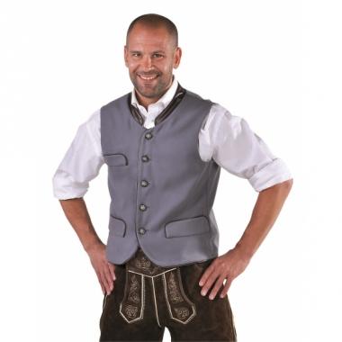 Tiroler vest voor heren grijs