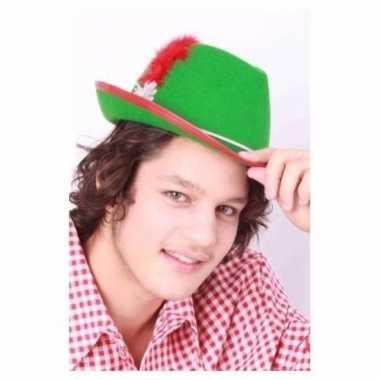 Tirool hoed groen voor heren