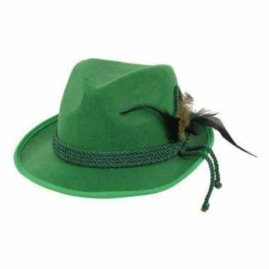 Tiroolse hoeden in groene kleur