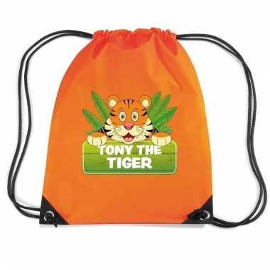 Tony the tiger tijger rugtas / gymtas oranje voor kinderen