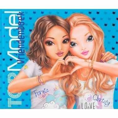 Topmodel blauw vriendinnenboek
