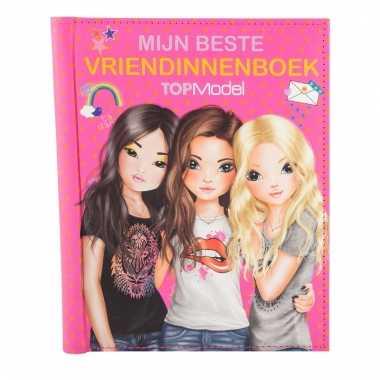 Topmodel roze vriendinnenboek met stickers