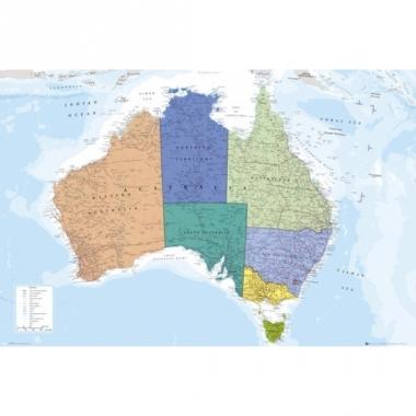 Topografieposter australie 91,5 cm