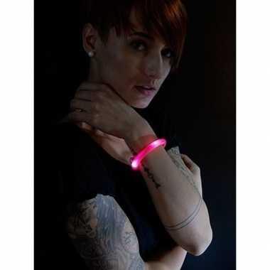 Toppers - 2x rode led licht wikkel armbanden voor volwassenen