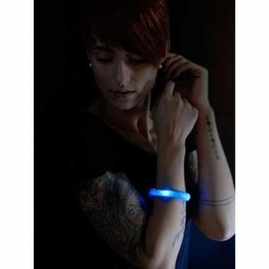 Toppers - 5x blauwe led licht wikkel armbanden voor volwassenen