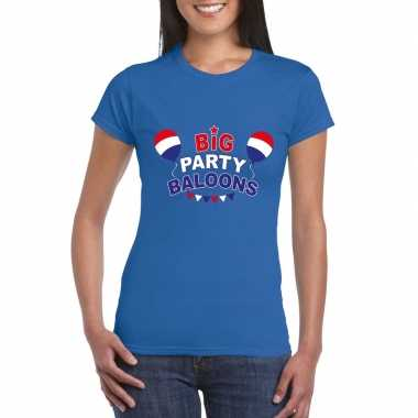 Toppers - blauw toppers big party balloons dames t-shirt