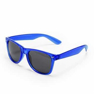 Toppers - blauwe verkleed accessoire zonnebril voor volwassenen