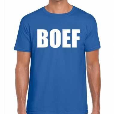 Toppers - boef heren t-shirt blauw