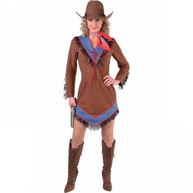 Toppers bruin cowgirl jurkje voor dames