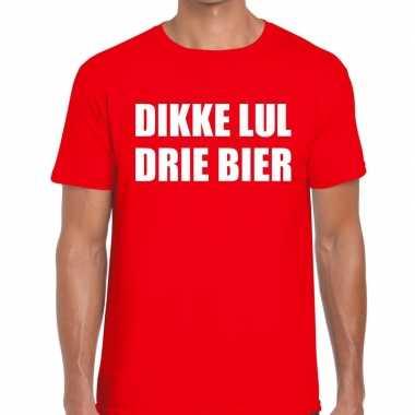Toppers - dikke lul drie bier heren t-shirt rood