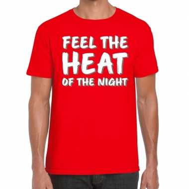 Toppers - feel te heat of the night t-shirt rood heren