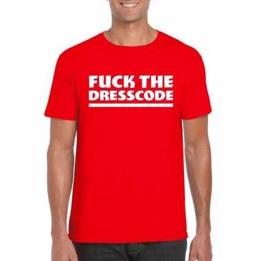 Toppers - fuck the dresscode heren t-shirt rood