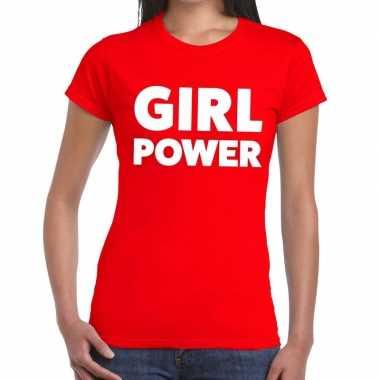 Toppers - girl power tekst t-shirt rood dames