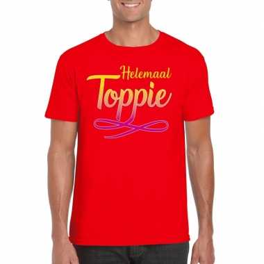 Toppers - helemaal toppie t-shirt rood heren