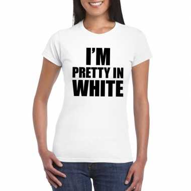 Toppers - i'm pretty in white t-shirt wit dames