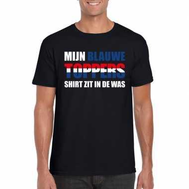 Toppers - mijn blauwe toppers shirt zit in de was t-shirt zwart heren