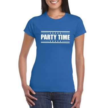 Toppers - party time t-shirt blauw dames
