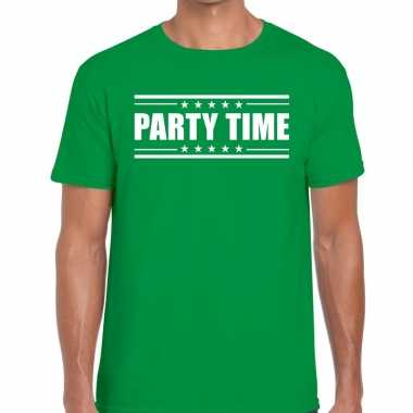 Toppers - party time t-shirt groen heren