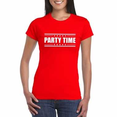 Toppers - party time t-shirt rood dames