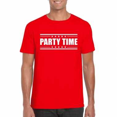 Toppers - party time t-shirt rood heren
