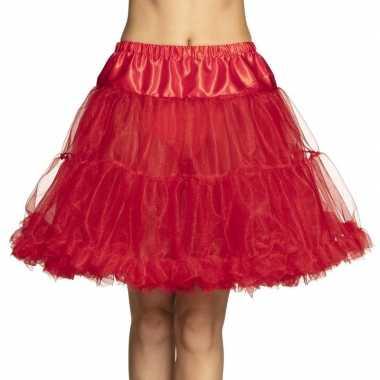 Toppers - rode petticoat voor dames 45 cm