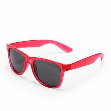 Toppers - rode verkleed accessoire zonnebril voor volwassenen