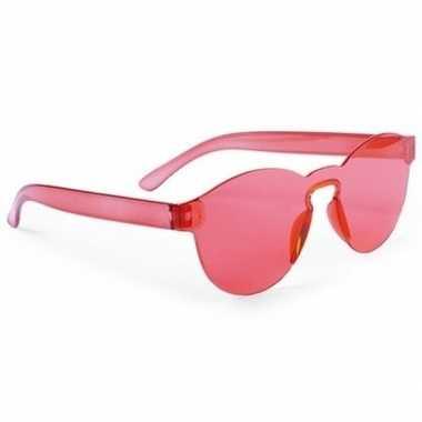 Toppers - rode verkleed zonnebril voor volwassenen