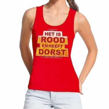 Toppers - rood het is rood en heeft dorst tanktop / mouwloos shirt da