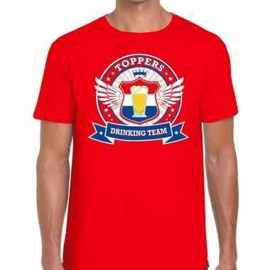 Toppers - rood toppers drinking team t-shirt heren