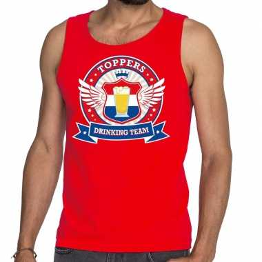 Toppers - rood toppers drinking team tankop / mouwloos shirt heren